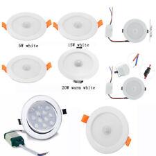 5W-20W LED Panel Recessed Light PIR Motion Sensor Downlight Round Ceiling Lamp