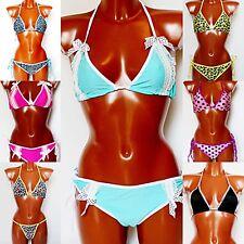 Damen Bikini Bademode Badeanzug Schwimmanzug Neckholder Größe 36-40 AUSVERKAUF!!