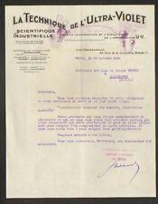 """PARIS (VII°) LABORATOIRE / PANSCOPE """"TECHNIQUE DE L'ULTRA-VIOLET"""" en 1930"""
