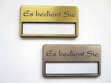Namensschilder mit Magnet oder goldfarbig 5 x Kunststoff Namensschild silber