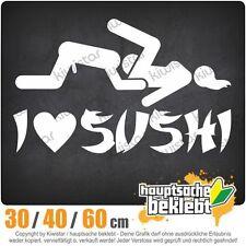I Love Sushi chf0001  in 3 Größen JDM  Heckscheibe Aufkleber