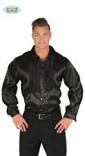 Camicia nera con rouches disco anni 70