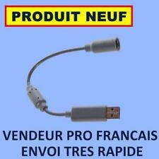 ADAPTATEUR EMBOUT CABLE USB MANETTE FILAIRE XBOX 360 - PRODUIT NEUF ENVOI 24H