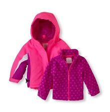 NWT Toddler Girls 12-18 Month Winter Coat w/Fleece Liner - Pink/Purple