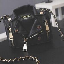 Women Rivet PU Leather Handbag Chain Shoulder Bag Jacket Messenger Crossbody New