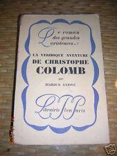 la véridique aventure de christophe colomb par andré