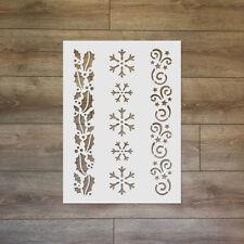 Winter pattern, snowflake - Christmas / Winter Reusable Plastic Stencil
