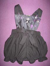 NEW Baby Girls Black Grey Nightmare B4 Xmas Short Bloomers Romper set Gift Goth