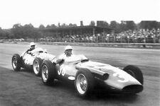 1956 Maserati 250F F1 & Stirling Moss at Italian GP Monza - Photo Poster
