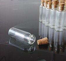 5/10/20/50 PCS 2ml Small Glass Vials With Cork Lids Tops Tiny Bottle Empty Jars
