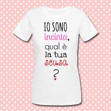 T-shirt premaman Io sono incinta, qual è la tua scusa? Idea regalo futura mamma!