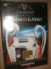 DVD N° 8 CHAMPIONS OF EUROPE BIANCO E & NERO GAZZETTA