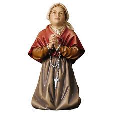Estatua Santa Bernadette Madera - St. Bernadette madera tallada