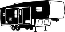 Camping 5th Wheel Camper Car Truck Window Wall Laptop Vinyl Decal Sticker