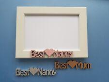 Mother's Day Birthday Photo Frame gift personalised Best Mum Nanny Nanna Mummy