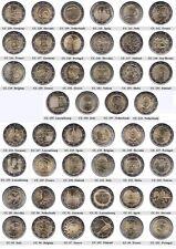 2 euro monedas conmemorativas 2011 - 2013-UNC, coincard, pp