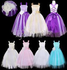 Mädchen Kinder Strap Kleid Brautjungfer Abendkleid Prinzessin Hochzeit Festkleid