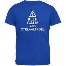 Keep Calm and Ctrl Alt Del Royal Adult T-Shirt