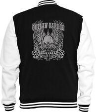 Biker Sweat College chaqueta outlaw garaje Chopper Motorcycle Skull v8