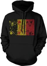 Belgium Spatter Flag Koninkrijk Belgie Belgique Belgien Pride Hoodie Pullover