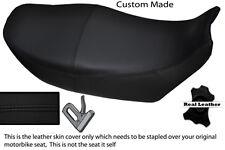 BLACK STITCH CUSTOM FITS YAMAHA XJ 900 F REAL LEATHER DUAL SEAT COVER