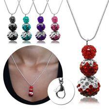 1 Collier Pendant Sautoir Shamballa Hématite Disco Perles Femmes Bijoux De Mode