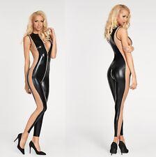 86e9a77b582c 7 HEAVEN CUZCO CATSUIT bodysuit overall schwarz wetlook zwei wege clubwear
