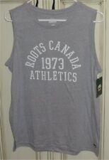 Women's ROOTS CANADA ATHLETICS 1973 Moria Tank Top Shirt GREY XL Large OR Medium