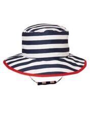 GYMBOREE VERY JUNIOR VARSITY WHITE N BLUE STRIPE BUCKET HAT 0 3 18 24 NWT