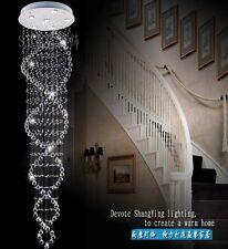 New Double Spiral K9 Crystal Pendant Lighting Ceiling Lamp Light Chandelier Loft