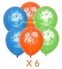 Finding Nemo Latex Balloons (x6) Party Decoration Sea Fish Theme