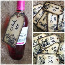 Alice in Wonderland Large  'Eat Me'...'Drink Me' Tags