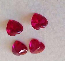 Heart Shape  Ruby Cubic Zircon Loose Stones 5x5,6x6,8x8,10x10mm  IF CZ - USA AAA