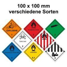 Gefahrgut Aufkleber/Etiketten - 100 x 100 mm - verschiedene Sorten/Klassen
