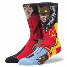 Stance Mens New Classic Crew Michael Jackson Thriller Comfort Red Socks BNWT