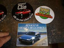 Autocollant Renault Clio & R19 & Coupe du Monde de Fottball 1982 ALLEZ RENAULT