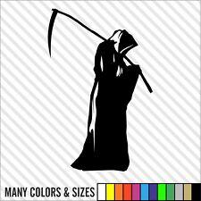 Grim Reaper die cut decal sticker car, truck, window, lap top - Many Colors
