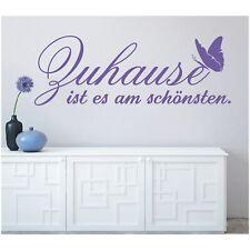 Wandtattoo Spruch  Zuhause ist am schönsten Wandsticker Sticker Wandaufkleber