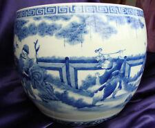 chinese porcelain blue white jar  vase marked signed qing dynasty