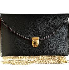 Women's Faux Leather Envelope Baguette Clutch
