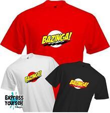 Bazinga-Flash Estilo-Big Bang Theory-Sheldon Cooper-Calidad Camiseta
