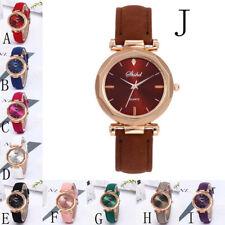 Fashion Women Leather Casual Watch Luxury Analog Quartz Crystal Wristwatch Cheap