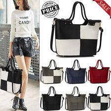 Women's Designer Handbag Ladies Faux Leather Stylish Tote Shoulder Bags Large