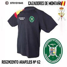 CAMISETAS TECNICAS CAZADORES DE MONTAÑA: REGIMIENTO ARAPILES Nº 62  M2