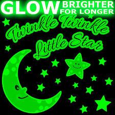 Brillano al buio Twinkle Little Star AMATI Nursery Rhyme preventivo Muro ARTE Adesivo