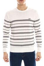 Maglia Maglietta Armani Jeans AJ Sweater Pullover -25% Uomo Bianco A6W09KD-9J