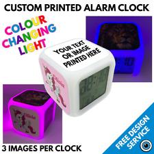 Custom Alarm Clock • Personalised Printed Christmas Gift • Image Text Photo Logo