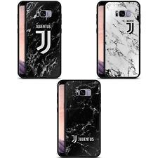 JUVENTUS FOOTBALL CLUB 2017/18 MARBLE BLACK HYBRID GLASS CASE FOR SAMSUNG PHONES
