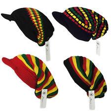 Rasta Reggae de gran tamaño Slouch Pico/tirar de Punto Beanie Cap Hat Unisex/