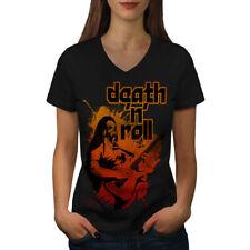 Death Metal Rock Music Women V-Neck T-shirt NEW | Wellcoda